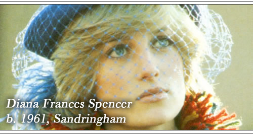 Born Diana Frances Spencer, 1961, Sandringham